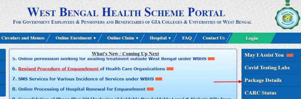west bengal health scheme rate chart